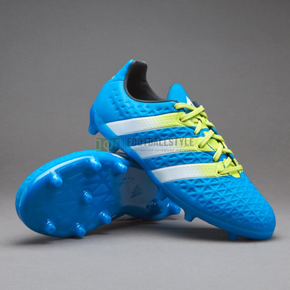 b8b4f5292174 Детские футбольные бутсы Adidas Ace 16.3 FG AG Junior (AF5156 ...